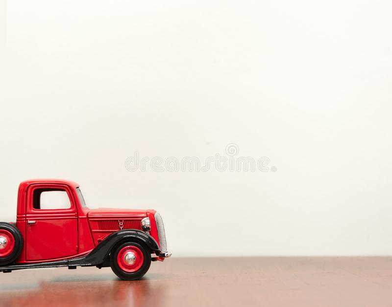 Classic Red Vehicle Scale Model royalty free stock photos