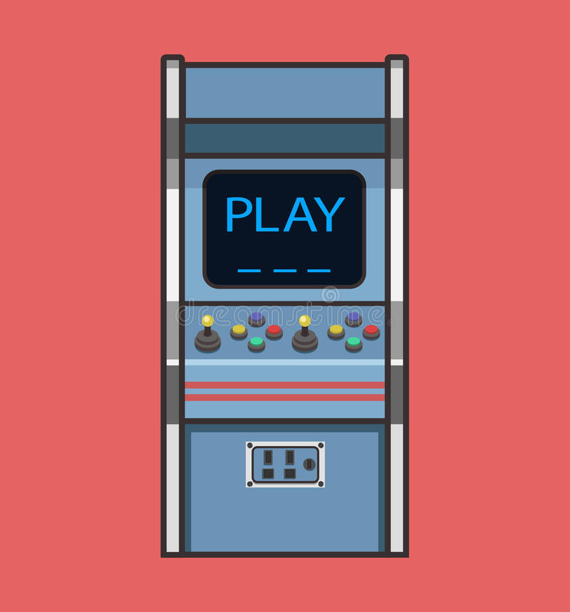 Classic Retro Arcade Game Machine. royalty free stock images