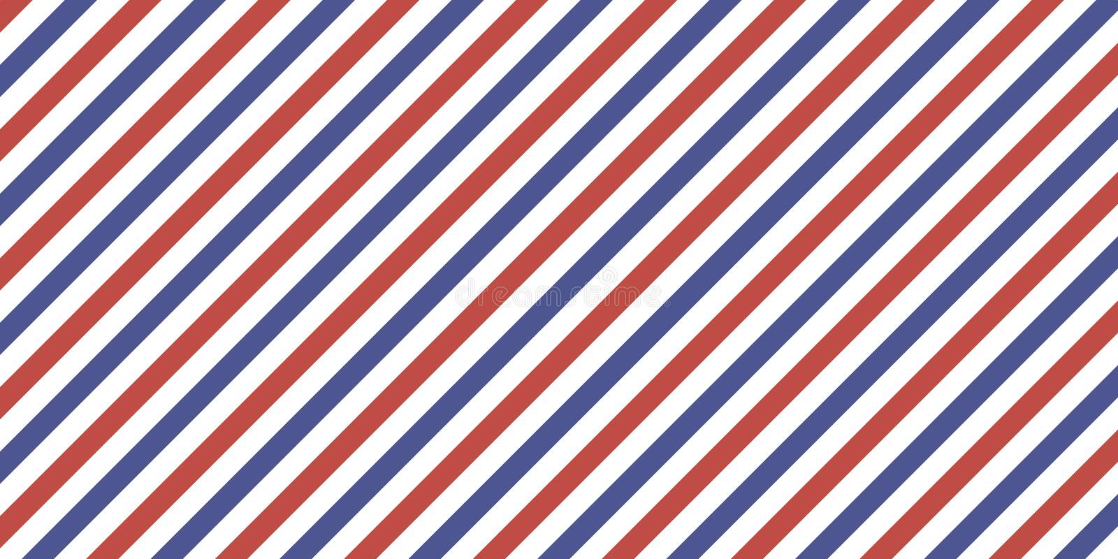 Classic retro background diagonal stripes red blue color, vector color stripes flag, airmail royalty free illustration