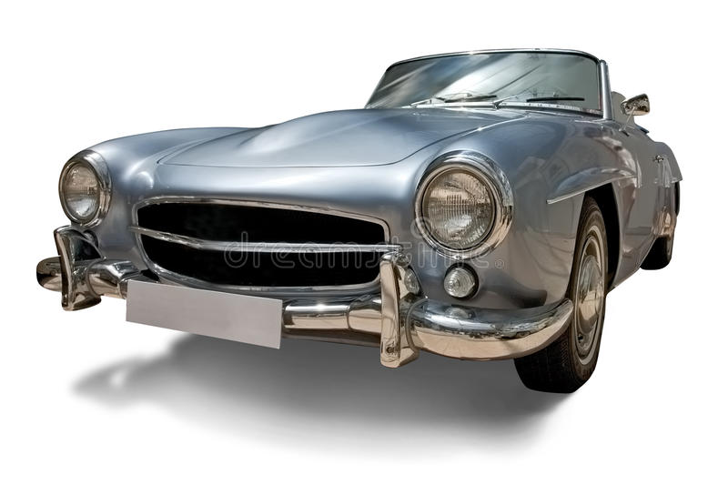 Classic Retro Car With Blank Number Plate Royalty Free Stock Photography