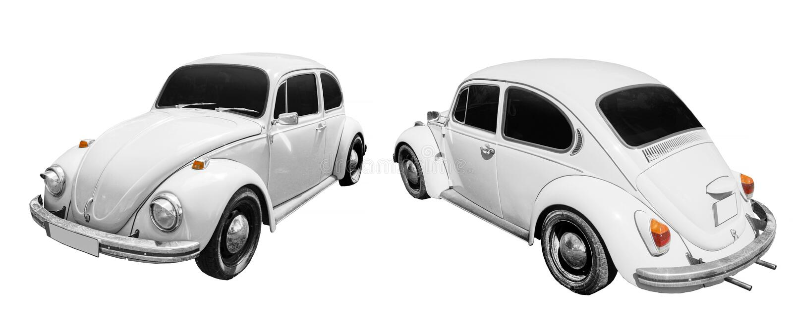 Classic retro car isolated on white background royalty free stock photography