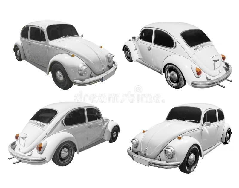 Classic retro car isolated on white background stock photo