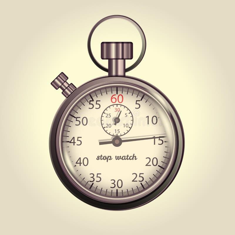 Classic retro stopwatch illustration vector illustration