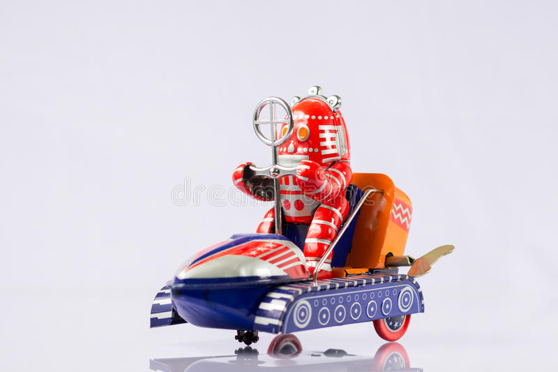 Classic robot toys stock photography