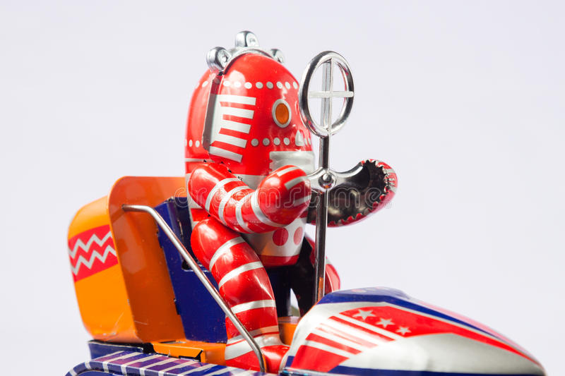 Classic robot toys royalty free stock image