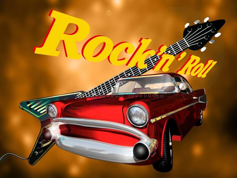 Download Classic Rock stock illustration. Image of guitar, retro - 14641465