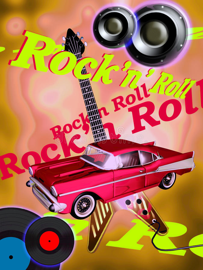 Classic Rock stock illustration