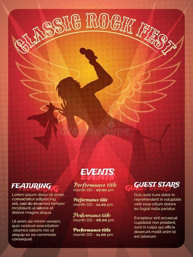 Classic Rock Fest-Plakatdesign stock abbildung