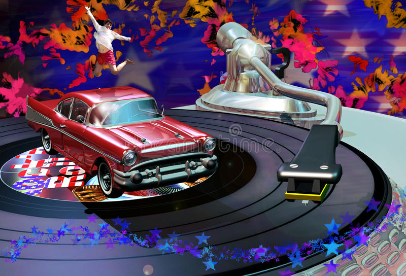 Download Classic rock party stock illustration. Image of radio - 20360108