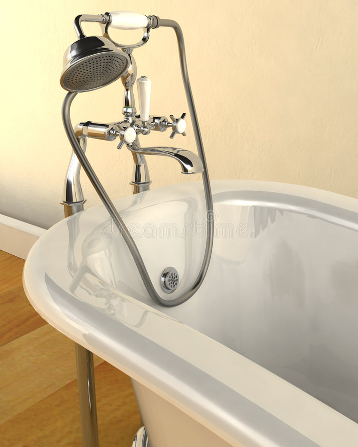 Classic roll top bath stock photography