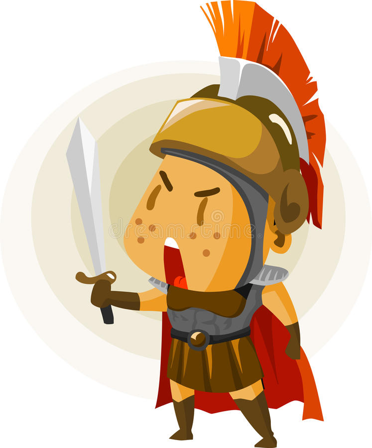 Download Classic Rome Warrior. stock illustration. Image of play - 12530248