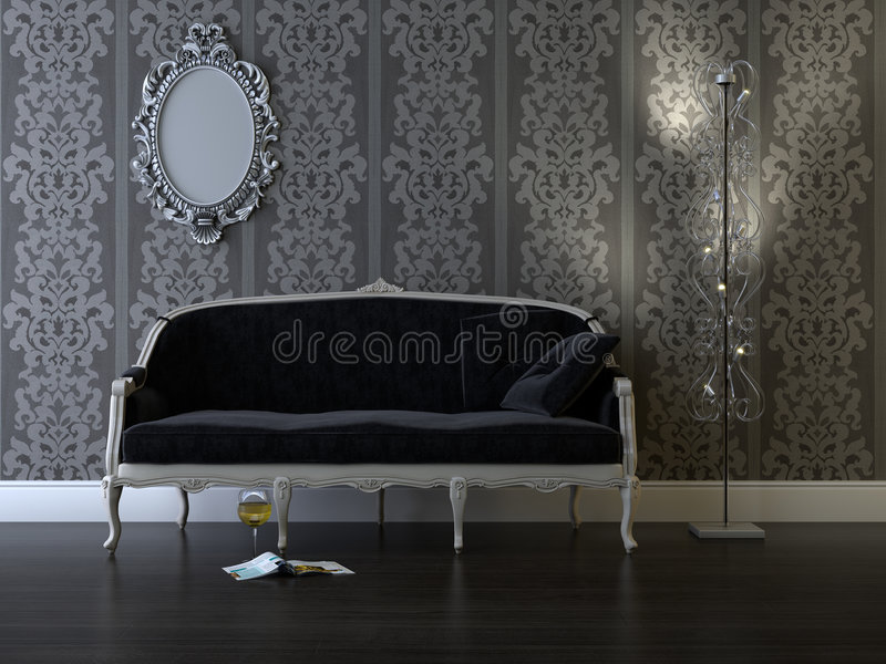 Classic room stock image