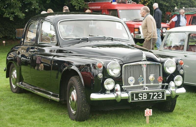 Classic Rover saloon car. stock photo