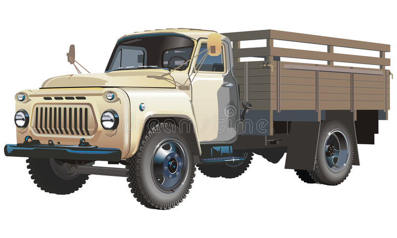 Classic Russian Truck Royalty Free Stock Photos