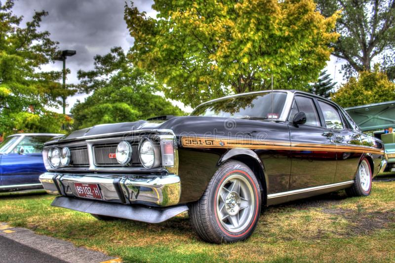Classic 1970s Australian Ford Falcon 351 GT stock images