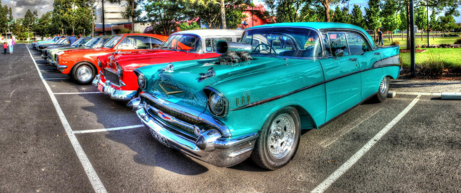 Classic 1950s Chevy hot rod royalty free stock photos