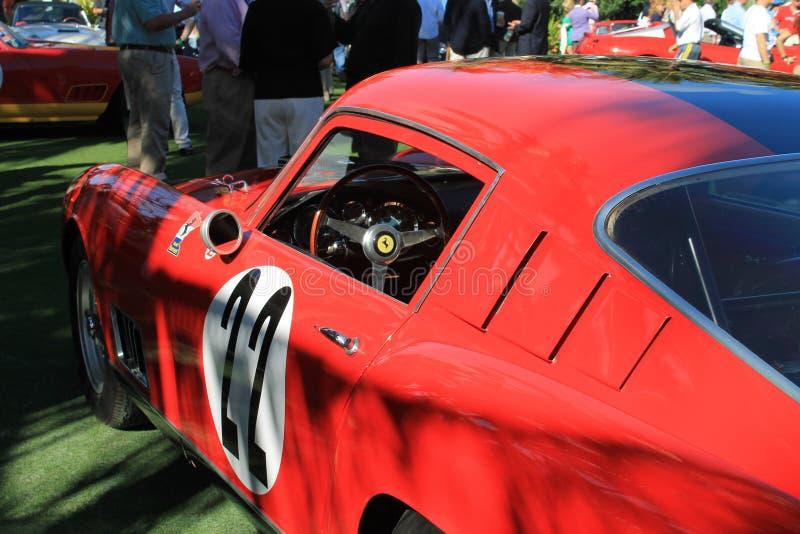 Classic 1950s Italian racecar. 1958 Ferrari 250 GT LWB TdF racer outdoors on a sunny day royalty free stock photos