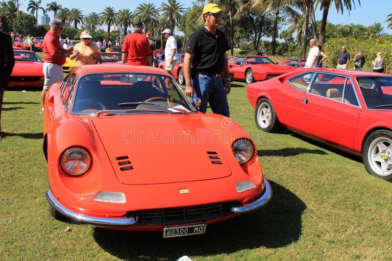 Classic 1960s orange dino 246 gt royalty free stock photos