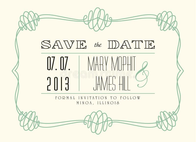 Classic Save the Date vector illustration
