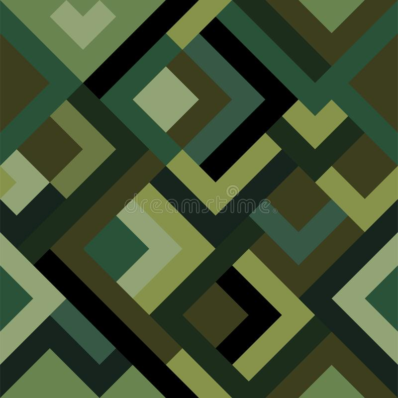 Classic seamless pattern with digital pixel camouflage. Camo print background for urban modern fashion fabric design vector illustration