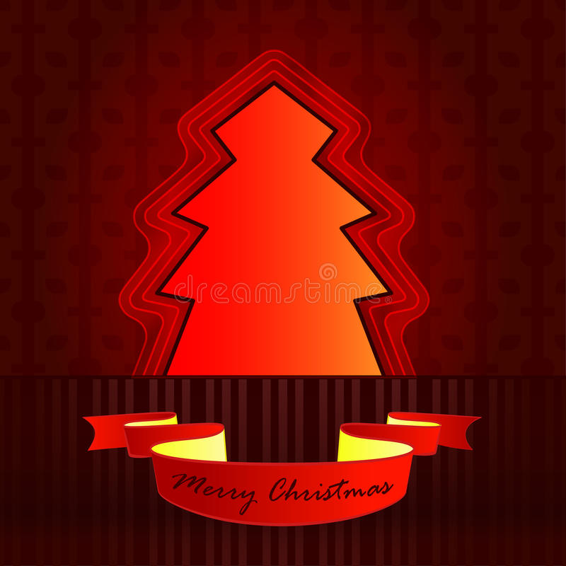 Classic shape designed red brown tree stock photo