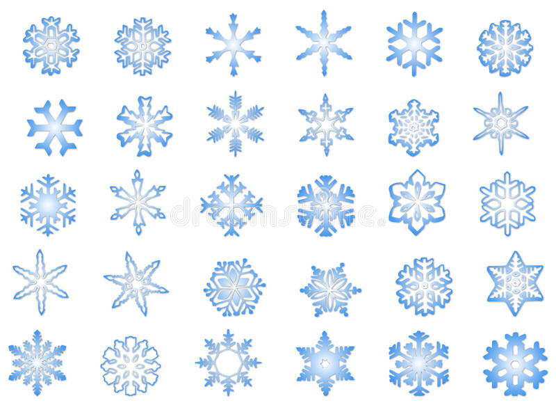 Classic Snowflakes #1 stock photos