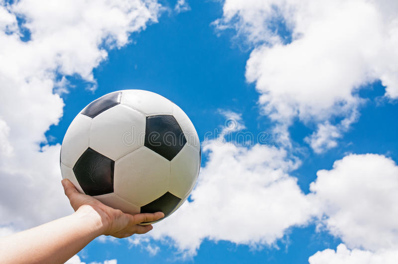 Classic soccer ball royalty free stock images