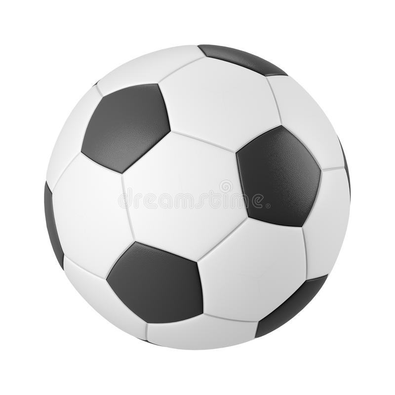 Classic soccer ball isolated on white background vector illustration