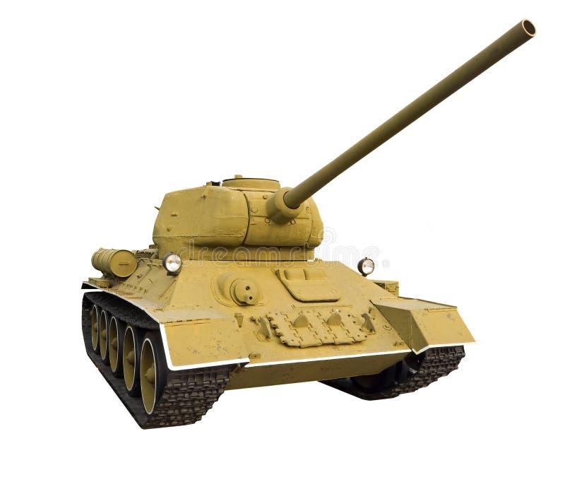 Classic Soviet tank stock image