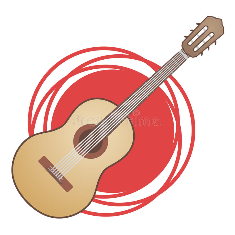 Download Classic Spanish Guitar Stock Vector Illustration Of Icon