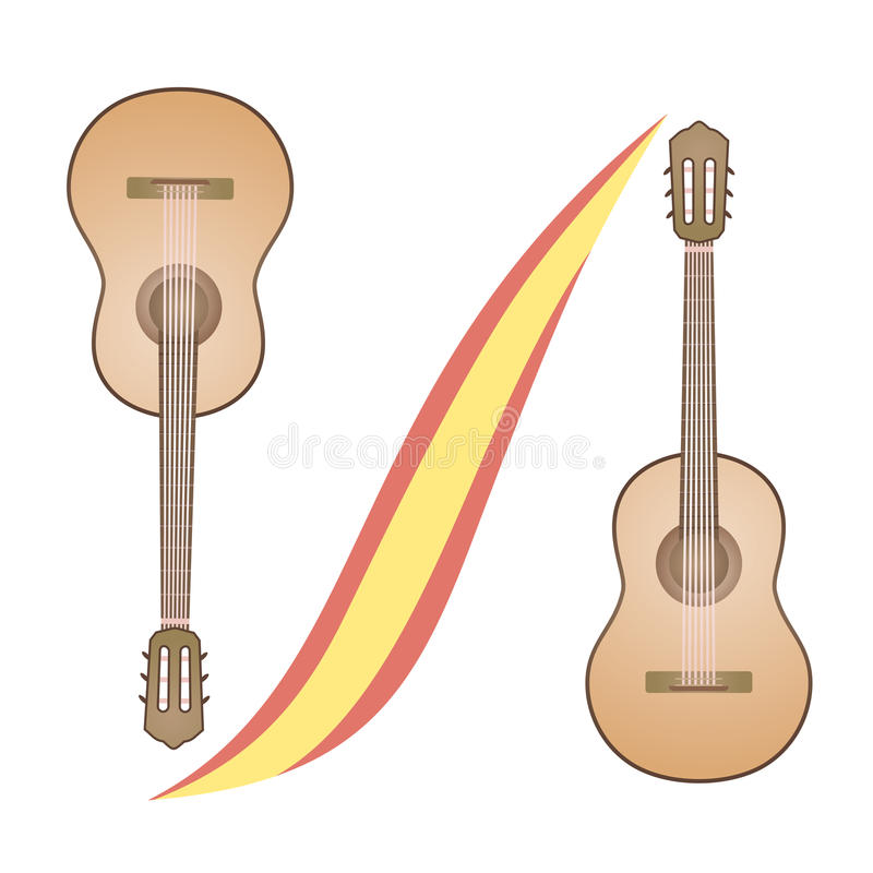 Download Classic Spanish Guitar Stock Vector Illustration Of Wood