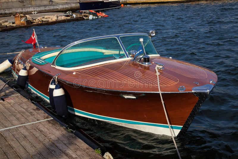Classic speedboat stock photos