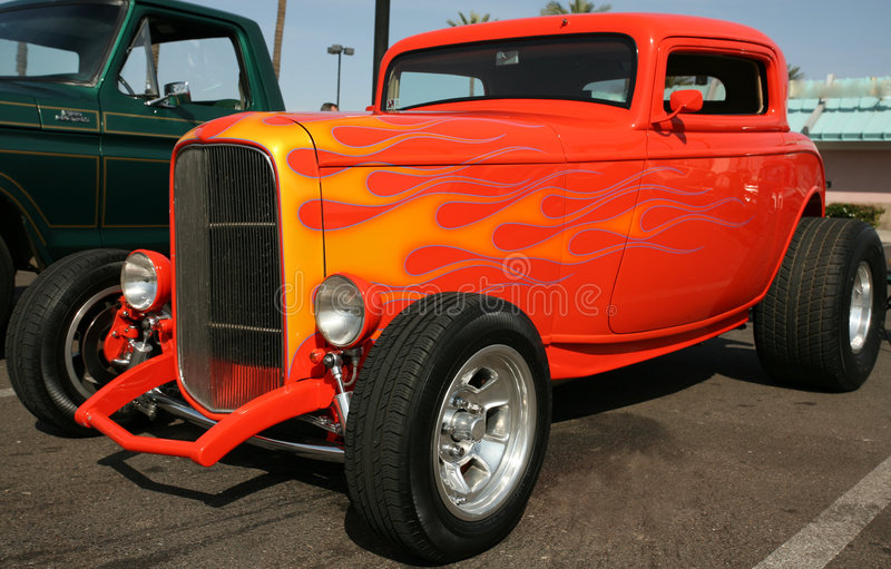 Download Classic Street Hot Rod stock image. Image of technology - 4236669