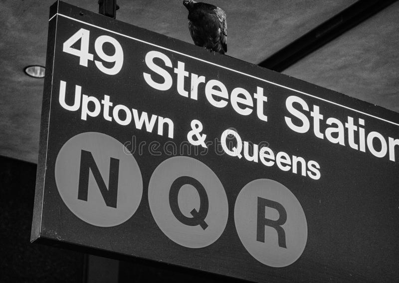 Classic Street Signs in New York City. U.S.A royalty free stock photo