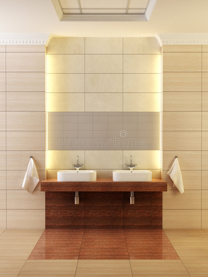 Classic style bathroom interior stock images