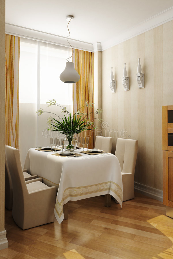 Classic style dining room stock images