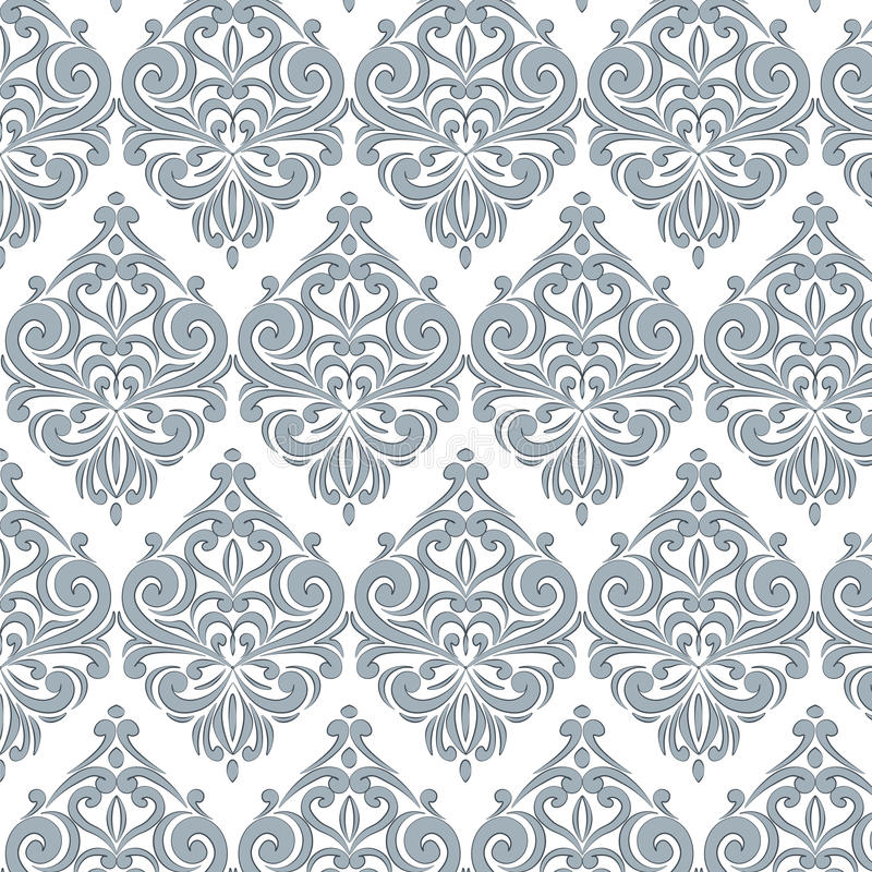Classic style floral ornament pattern. In blue color. Vector vector illustration