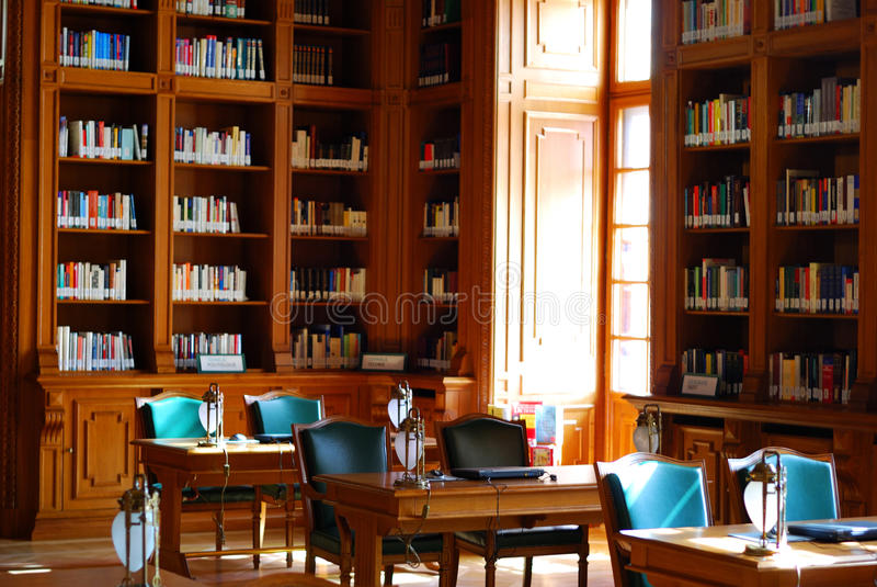 Classic style library royalty free stock photography