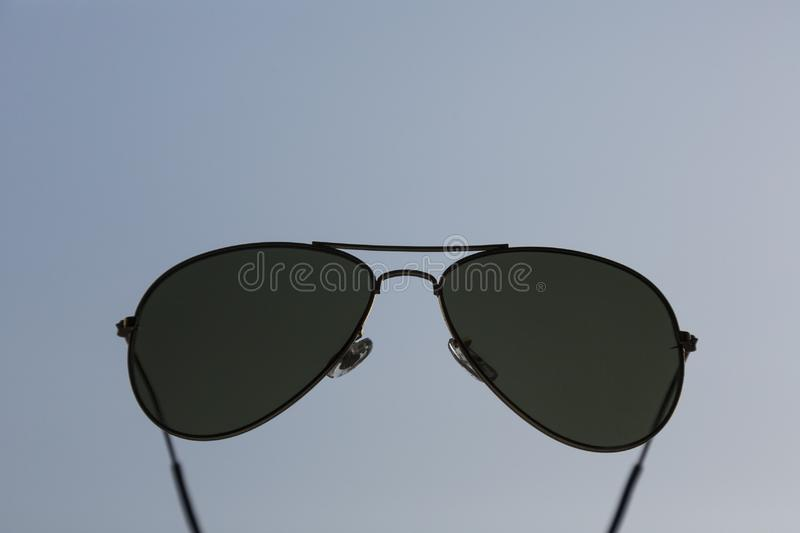 Classic sun glasses. In the shape of aviator model stock images