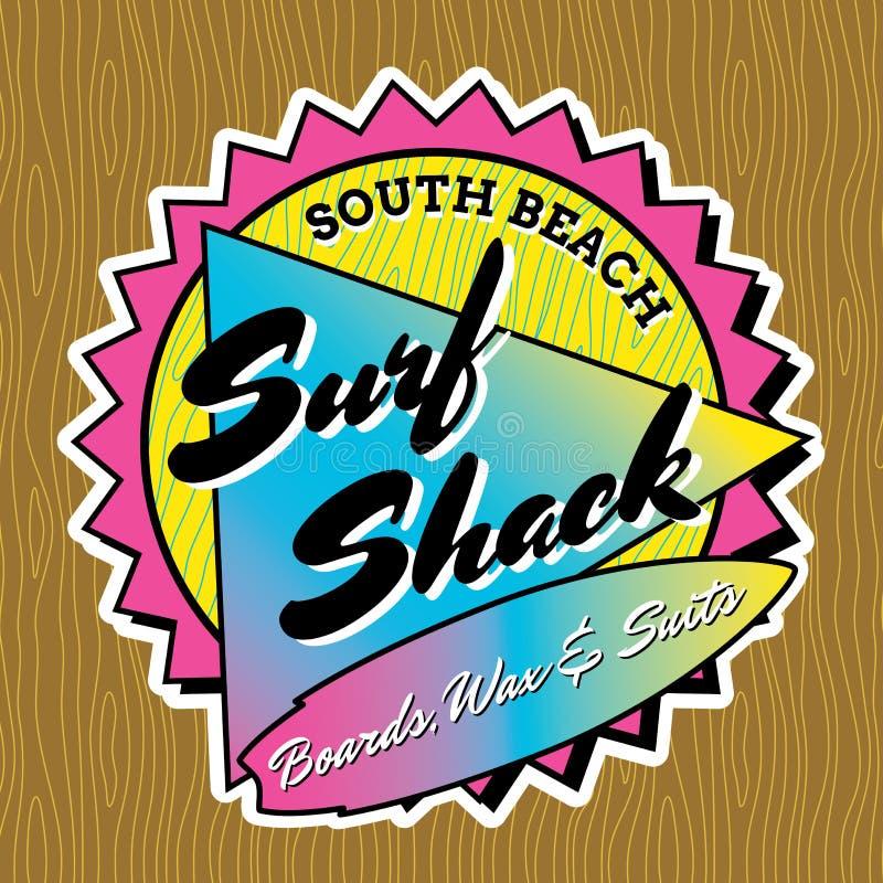 Classic Surf Logo Design stock vector  Illustration of