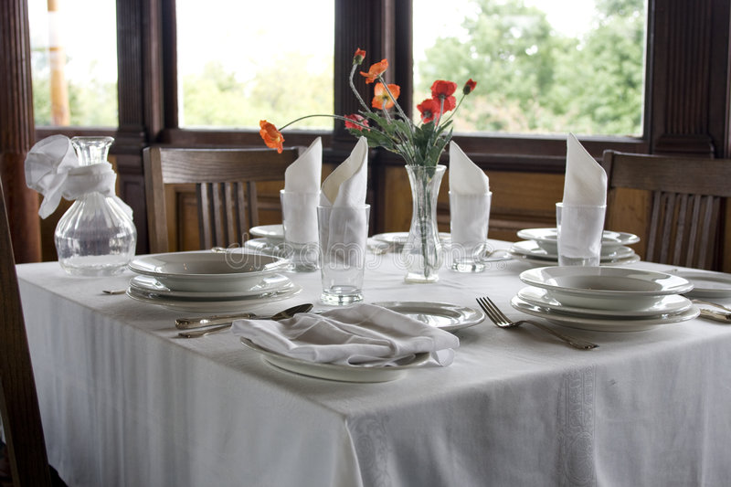 Classic table setting royalty free stock photo