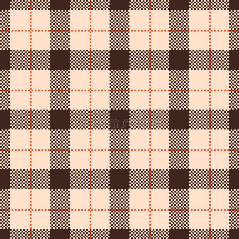 Classic tartan and buffalo check plaid seamless patterns. stock illustration