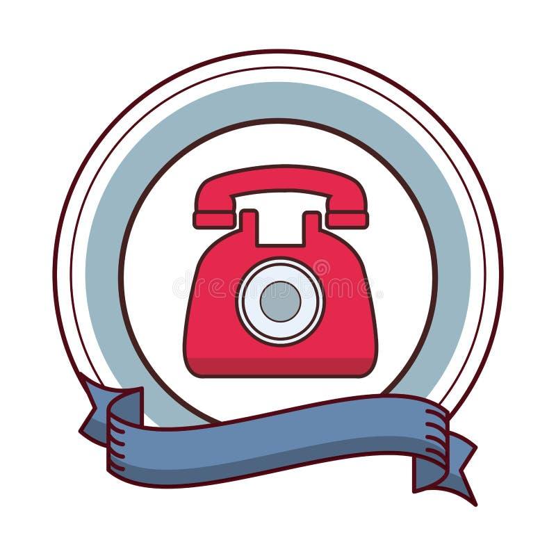 Classic telephone cartoon. Classic telephone banner cartoon vector illustration graphic design royalty free illustration