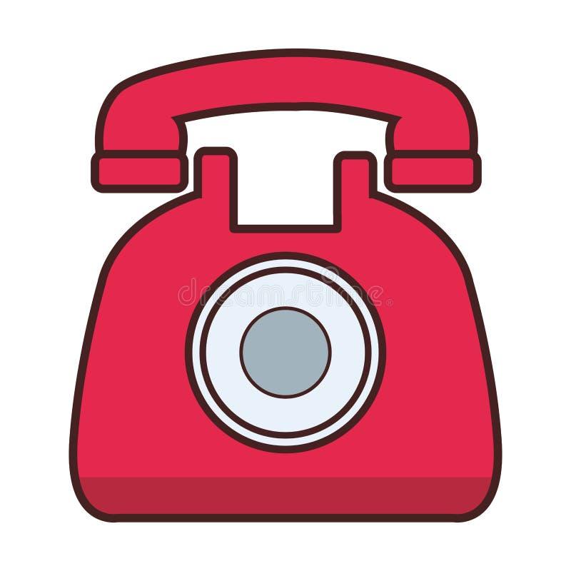 Classic telephone cartoon. Vector illustration graphic design royalty free illustration