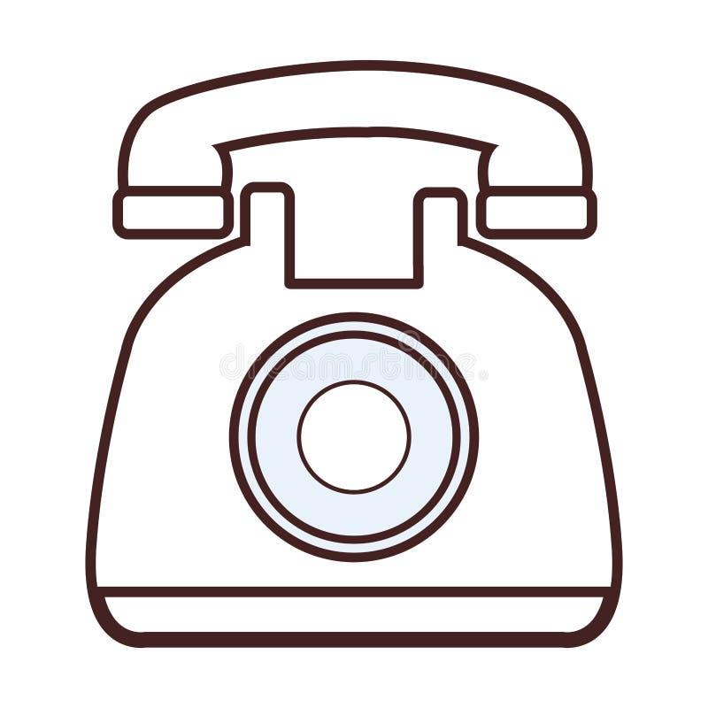 Classic telephone cartoon. Vector illustration graphic design vector illustration