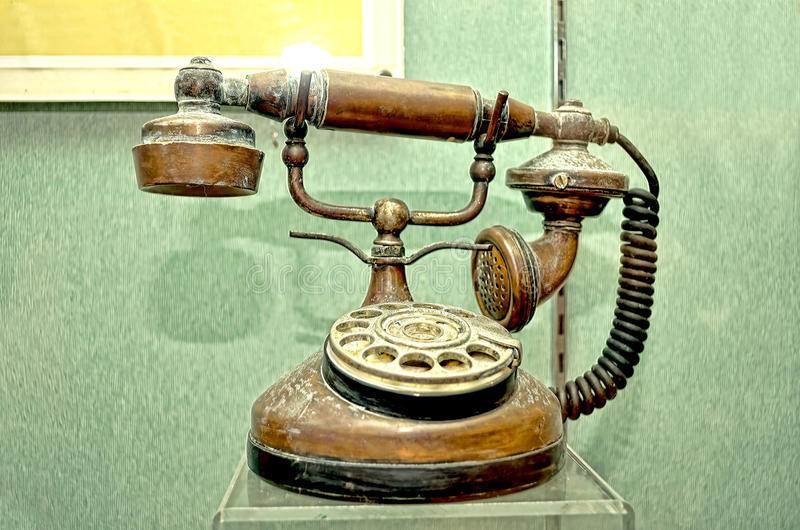 Classic telephone. An old and classic telephone stock images