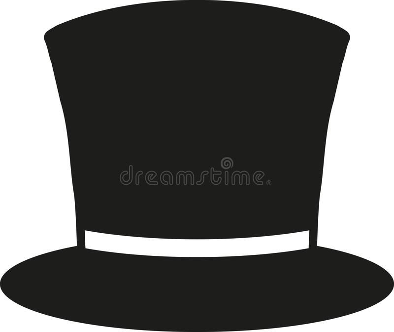 Classic top hat vector illustration