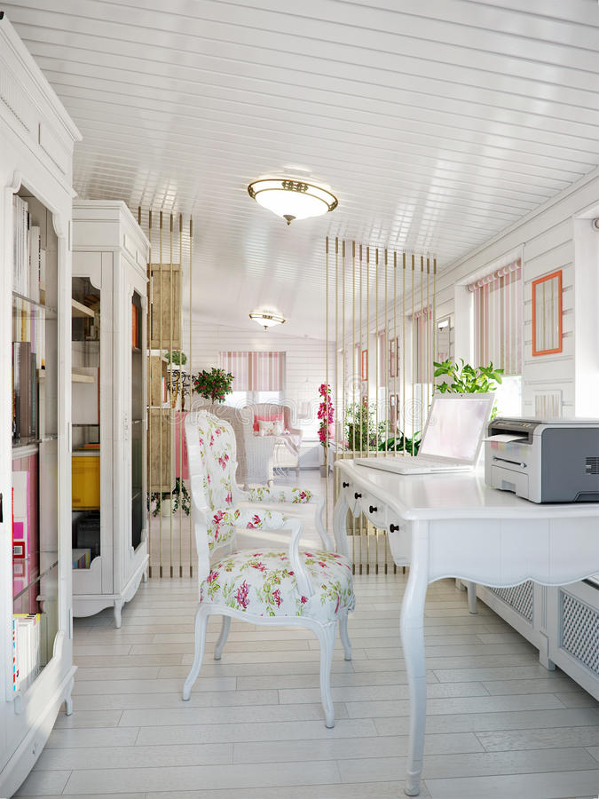 Classic Traditional Provence White And Pink Colors Veranda Home ...