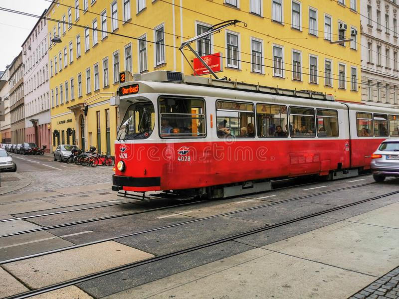 Classic tram in Vienna royalty free stock photos