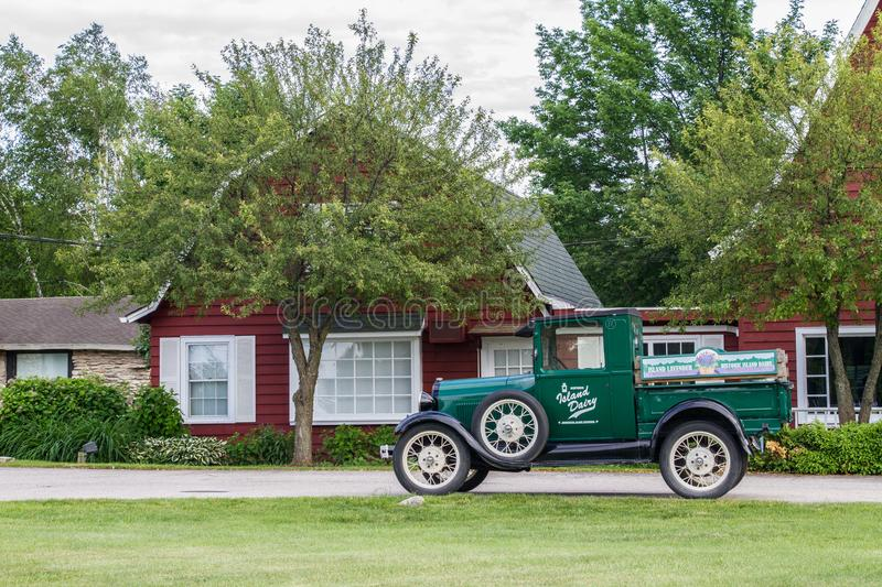 Classic Truck in front of barn royalty free stock image